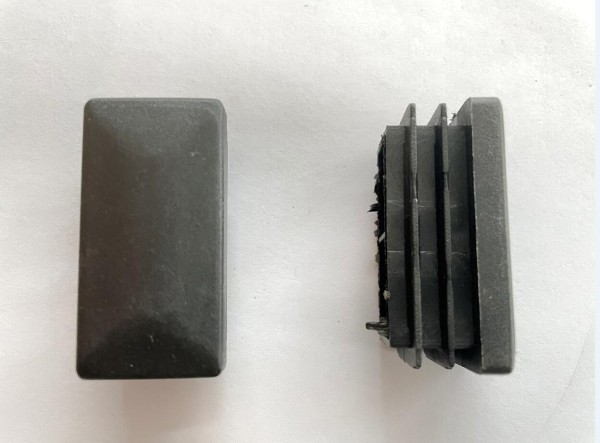 Fusskappe für Chester Liege, Rao Multifunktionsliege, vorne schwarz