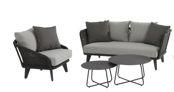 4 Seasons Belize 2,5 Sitzer Sofa und Sessel inkl. Kissen und Tisch-Set