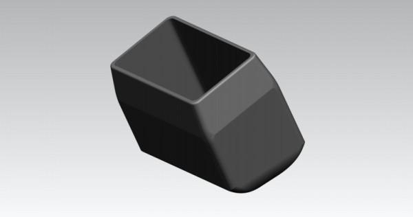 Fusskappen 4er-Set 35X20 mm schwarz rechts