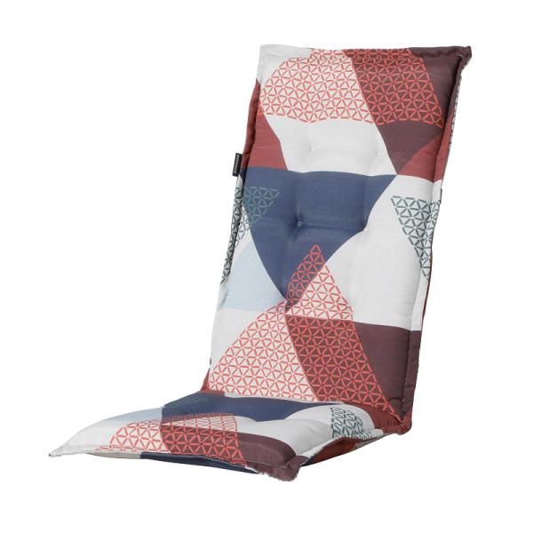 Madison Kissen Triangle Blue für Hochlehner und Klappsessel 50x123 cm
