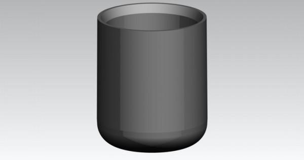 Fusskappen Innendurchmesser 22 mm schwarz flach
