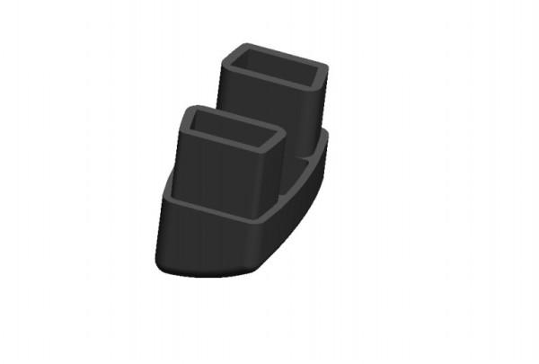 Fusskappen 4er-Set für Stapelliege graphit