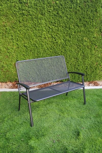 Exito Gartenbank Prato 2-Sitzer eisengrau, Breite ca. 117 cm.