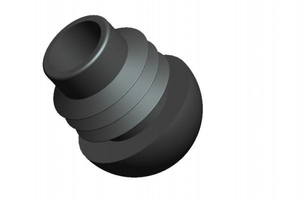 Fusskappen 4er-Set Innendurchmesser 19 mm schwarz