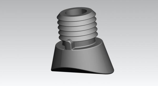 Fusskappen Innendurchmesser 22 mm schwarz, schräg