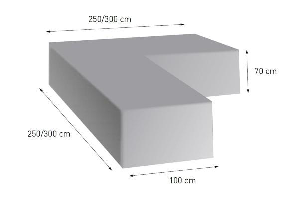 4 Season Schutzhülle L-Form 300x300x70 für Lounge-Gruppe