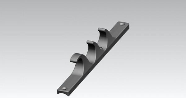 Raster für Liege Fussteil 3-fach verstellbar, schwarz