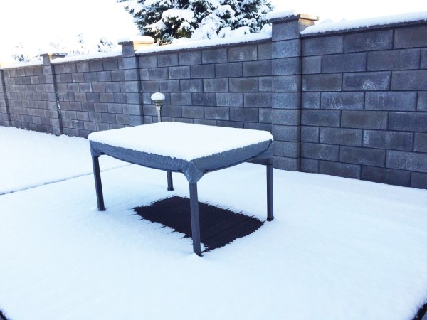 Garten Kultur Schutzhülle für Tisch mit 15 cm Abhang 180x95 cm