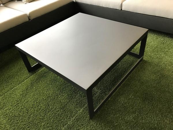 Jati & Kebon Burford Tisch 90x90 cm, Höhe 37,2 cm eisengrau