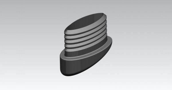 Fusskappen 4er Set 38X25 mm graphit oval