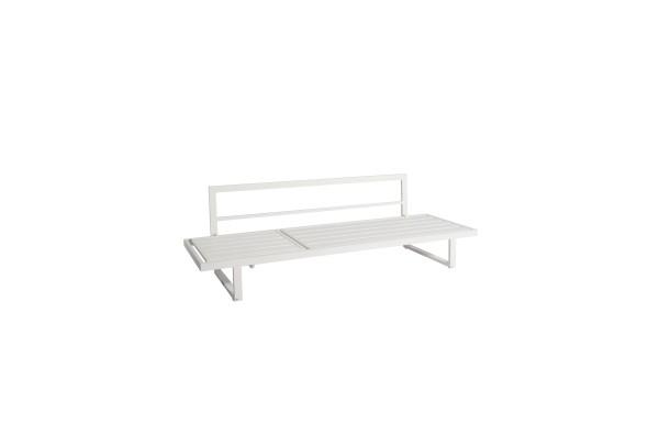 Rao Multifunktionsliege / 3-Sitzer Sofa weiss matt, mit Verstellfunktion 210x72,5x65,7 cm, inkl. Rüc