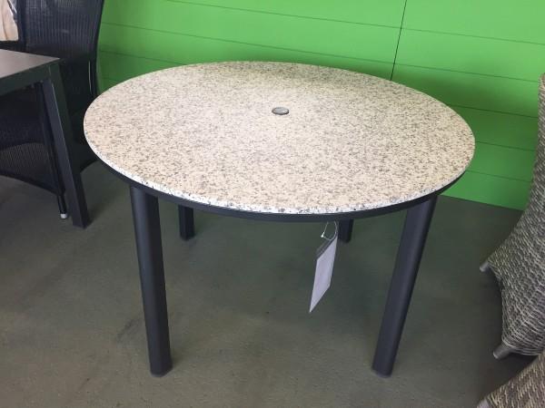 hip Shell Loft Tisch eisengrau/white siena ø 110 cm