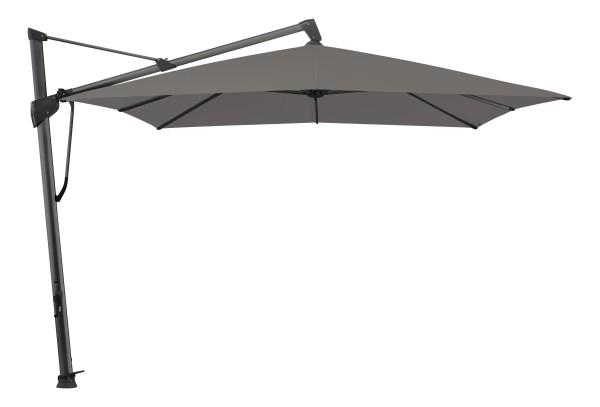 Glatz Sombrano Easy Freiarm-Schirm, 400x300 cm, Farbe stone-grey, Gestell dunkelgrau
