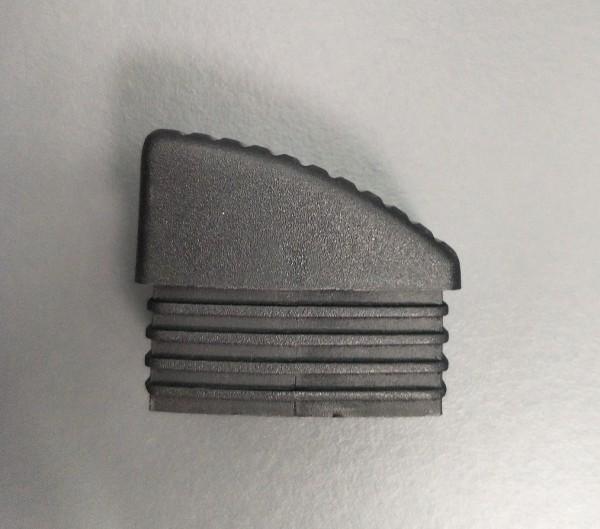 Fusskappe für Dransy Stapelsessel, hinten rechts, schwarz