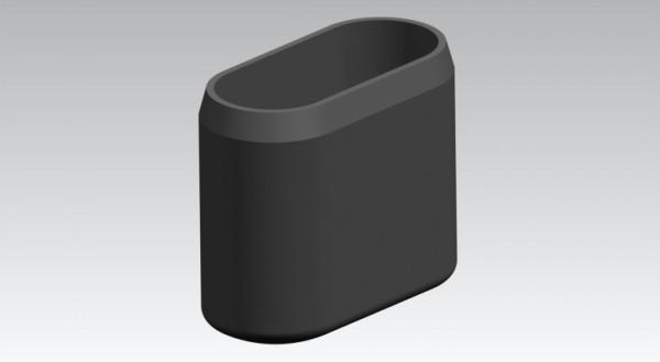Fusskappen 35x15 mm oval schwarz