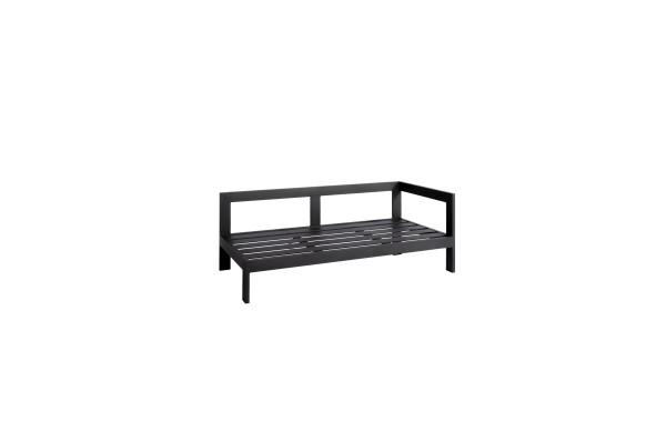 Jati & Kebon Vigo 2-Sitzer Lounge Seitenteil links eisengrau matt 154,5x78,5x61 cm