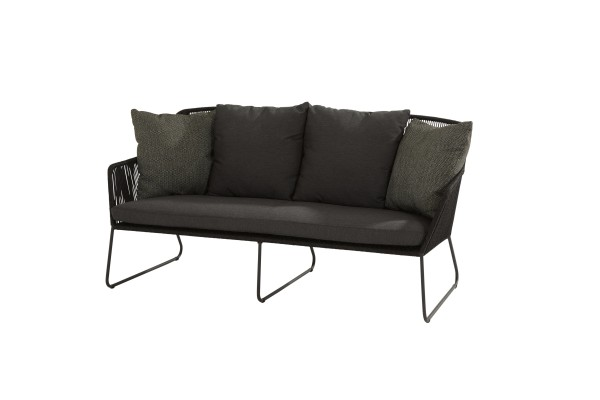 4 Seasons Accor Lounge Sofa mit 5 Kissen, Gestell Edelstahl