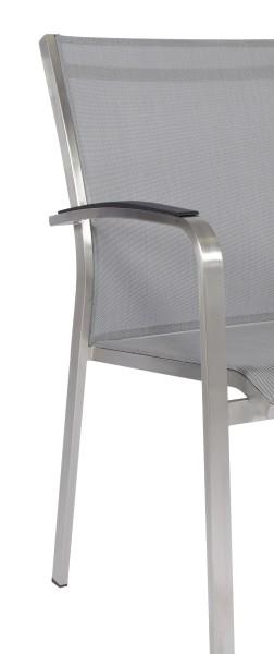 Armlehne für Claro Stapelsessel, Aluminium schwarz