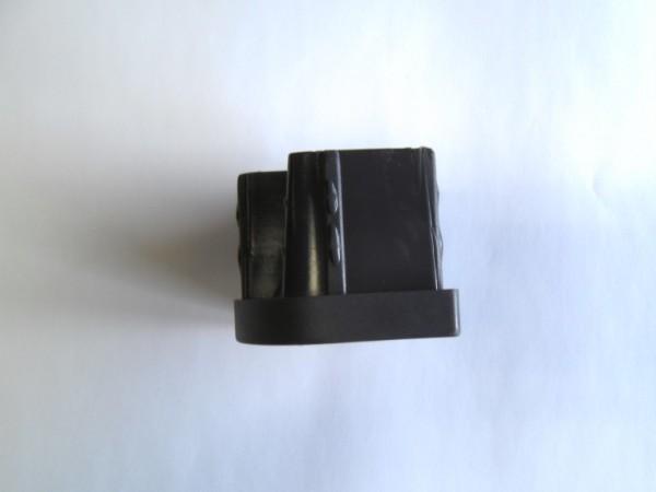 Bodengleiter Erhöhung D-Profil 50,8x54 mm eisengrau