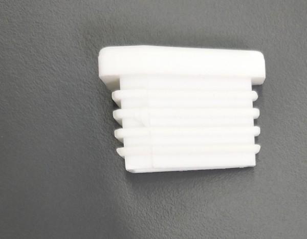 Fusskappe für Dransy Stapelsessel, vorne rechts, weiss