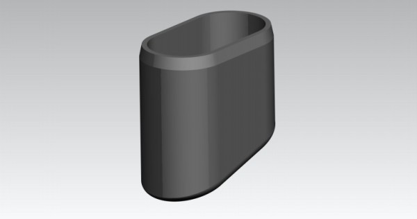 Fusskappen 4-er-Set 40x20 mm schwarz oval/schräg