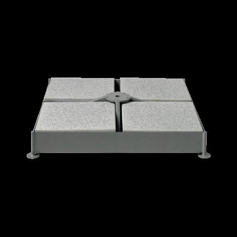 Glatz Sockel M4, 120 kg, 91×91×11,5/15,5 cm, Stahl verzinkt
