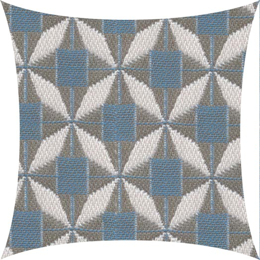Garten Kultur Deko Kissen 50x50 cm, Mosaic Blue PG5 100 % Acryl