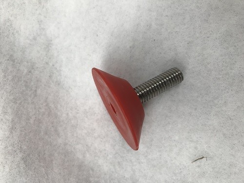Verstellschraube für Bodengleiter rot