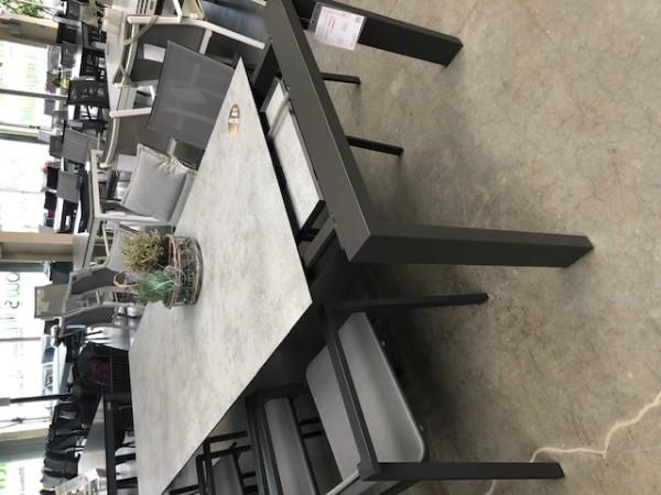 Jati & Kebon Bologna HPL Ausziehtisch 180/280x95 cm, eisengrau/zement