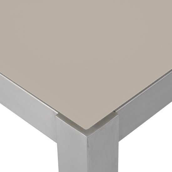 Jati & Kebon Glassplatte taupe 220x100 cm, 10 mm dick