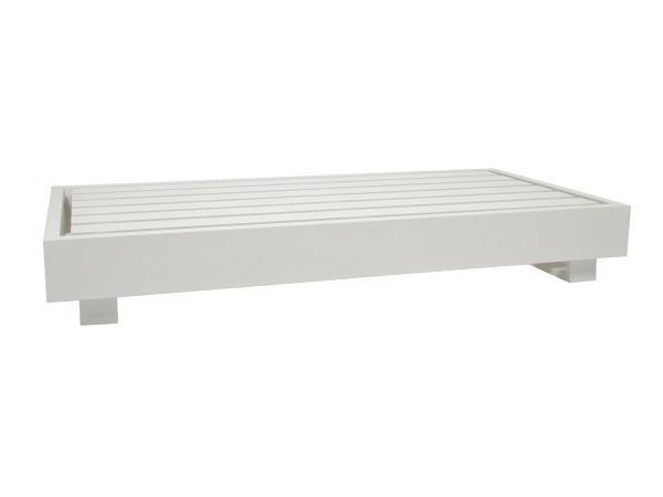Bari Basismodul 2-Sitzer Aluminium weiss 180x90x27 cm, Rückenlehne muss separat bestellt werden