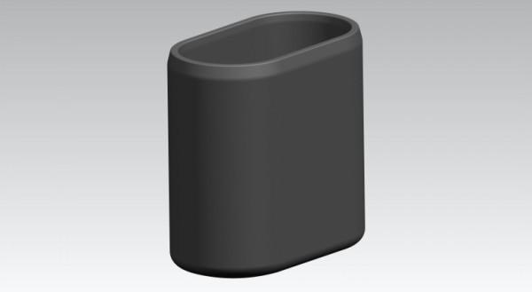Fusskappen 4er-Set 30X15 mm weiss oval