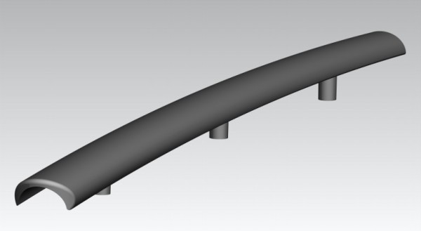 Armlehne Kunststoff RE/LI schwarz für Stapelsessel Sepio