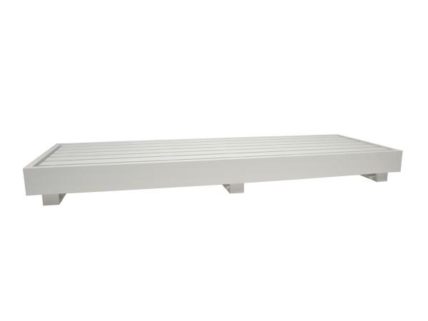 Bari Basismodul 3-Sitzer Aluminium weiss 270x90x27 cm, Rückenlehne muss separat bestellt werden