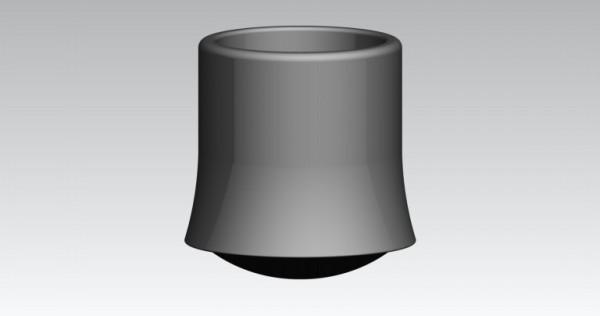 Fusskappen Innendurchmesser 20 mm schwarz, Pilzform