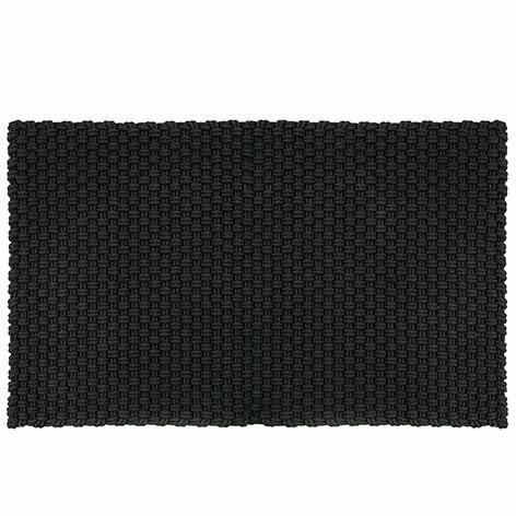 Pad in/outdoor Teppich Uni 140x200 cm, schwarz