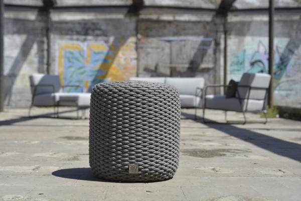 Macaron Rope Puff round 40 cm (42) Mid Grey