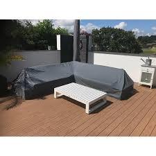 Garten Kultur Schutzhülle für Lounge Virginia (L-Form ohne Sessel) mit Tisch Ecke