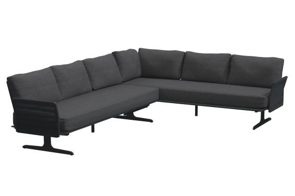 4 Seasons Kaya Lounge-Set: 2x 3-Sitzer Sofa-Element, 2x Armlehne, 7x Rücken-Element