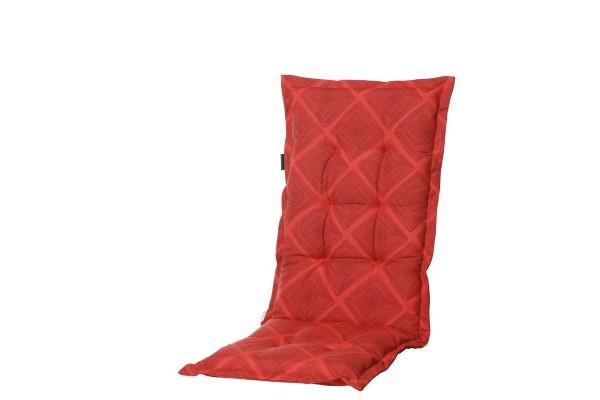 Madison Kissen Viro Red für Hochlehner und Klappsessel 50x123 cm