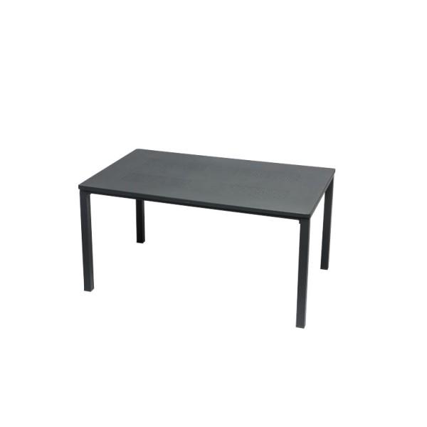 Sow Shin Loft Lochblech Tisch, Metall, eisengrau 180x90 cm