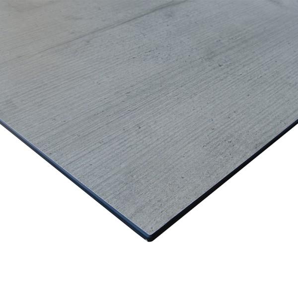 Jati & Kebon Tischplatte HPL 130x80 cm Granit hellgrau gerade Kante 8 mm