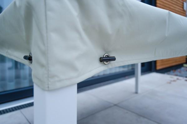 Garten Kultur Schutzhülle für Tisch mit 15 cm Abhang 160x90 cm Everlast Farbe taupe grey