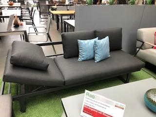 Garten Kultur Rao Kissenset für Liege / Sofa 5-teilig (2x Sitzkissen und 3x Rückenkissen) natte soot