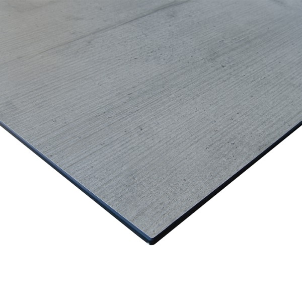 Jati & Kebon Tischplatte HPL 220x100 cm Granit hellgrau, gerade Kante 8 mm