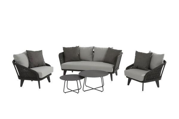 4 Seasons Belize 2,5 Sitzer 1xSofa und 2x Sessel inkl. Kissen und Tisch-Set