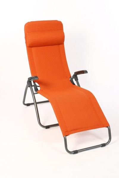 Sungörl Bäderliege Orange, Gestell Aluminium