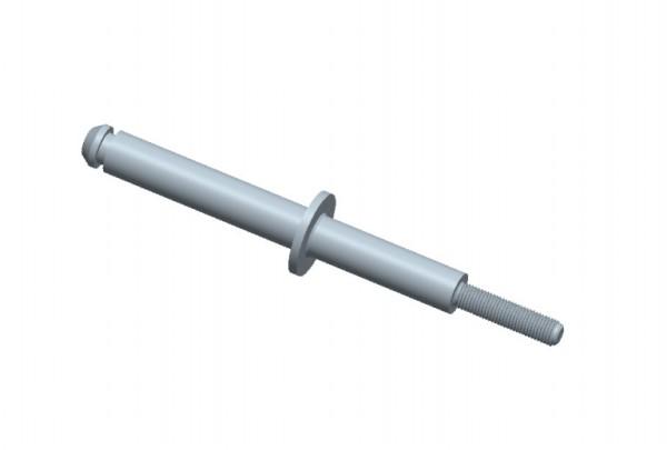 Radbolzen L 12 cm Länge mit Führung für Saseo Liege