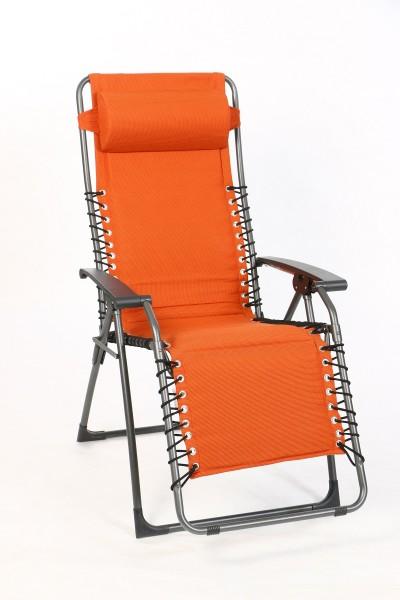 Sungörl Relaxliege Oasi Orange XL, Gestell Stahl