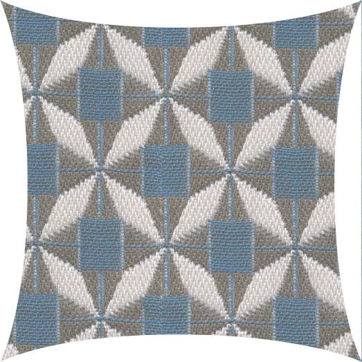 Garten Kultur Deko Kissen 60x40 cm, Sunbrella Mosaic Blue PG5